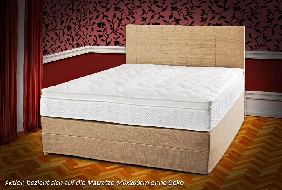 matratze royal klima 140x200 cm mit visko topperauflage in. Black Bedroom Furniture Sets. Home Design Ideas