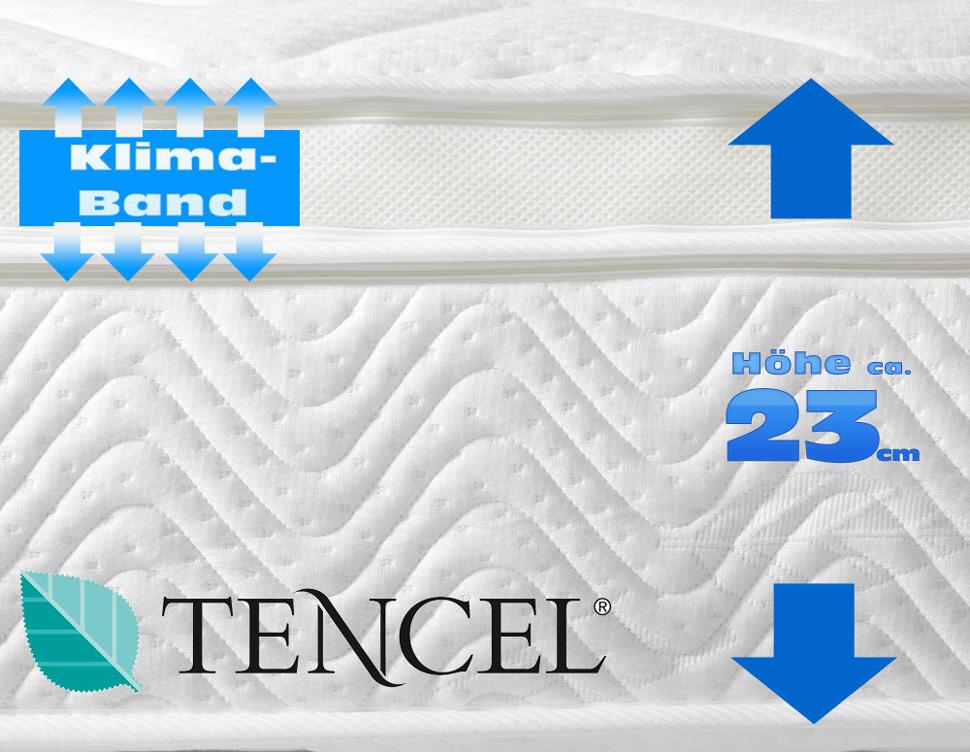 2er set matratze royal klima 90x200 cm mit topperauflagen in h rte h2 h rte h3 ebay. Black Bedroom Furniture Sets. Home Design Ideas