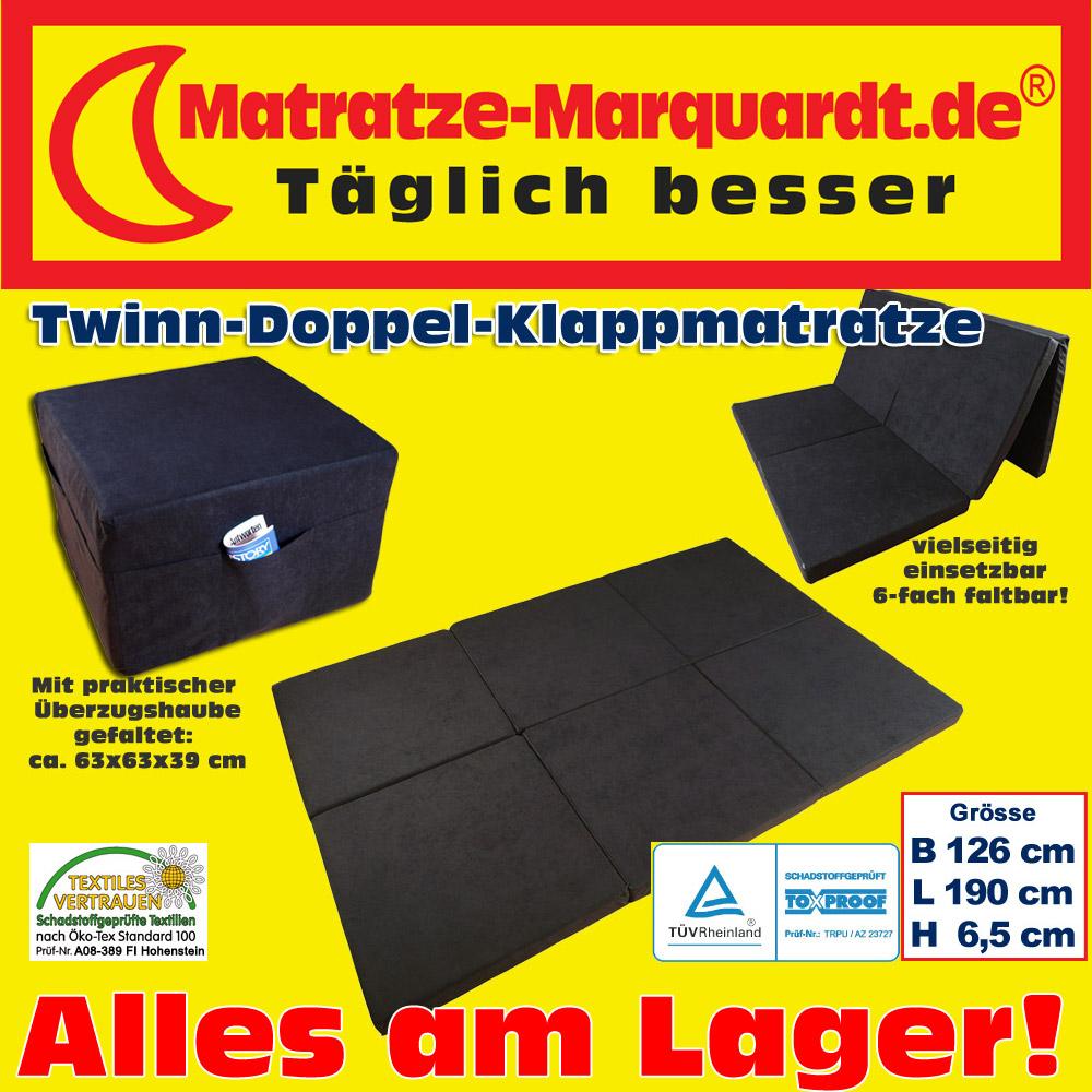 Twin-Doppel-Klappmatratze-Gaestebett-schwarz-nur-69-99